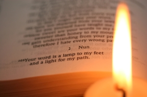Thy word is a lamp to my feet, and a light to my paths.