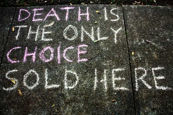 Death is the only choice sold here