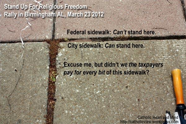 Federal sidewalk, city sidewalk, didn't we taxpayers pay for both sidewalks?