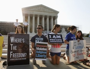 Where's the freedom? Protesting the HHS Mandate outside the Supreme Court