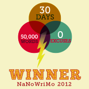 National Novel Writing Month, November 2012, WINNER