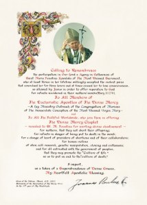 Apostolic Blessing from Pope John Paul II