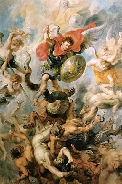 St Michael doing the Will of God, painting by Rubens. Wikimedia. Public domain.