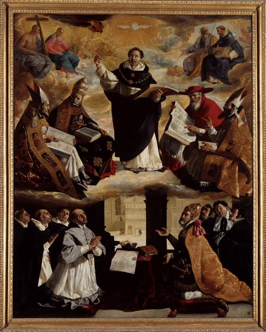 Apotheosis of St. Thomas Aquinas, by Francisco de Zurbaran