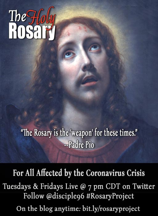 Banner for The Rosary Project on Twitter, aka the Live Twitter Rosary Threads