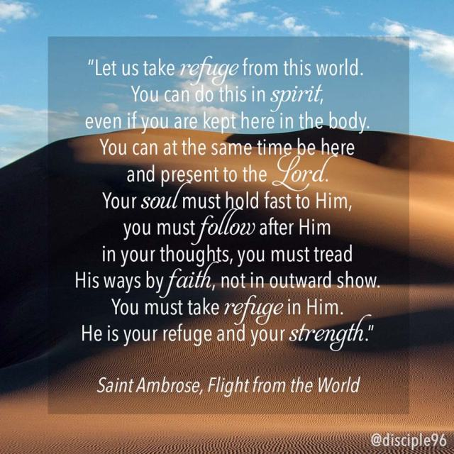 Let us take refuge, quote by St Ambrose
