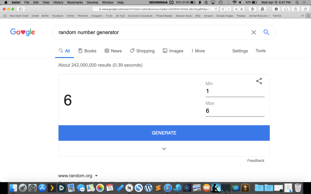 Third Prize Randomly Generated Number