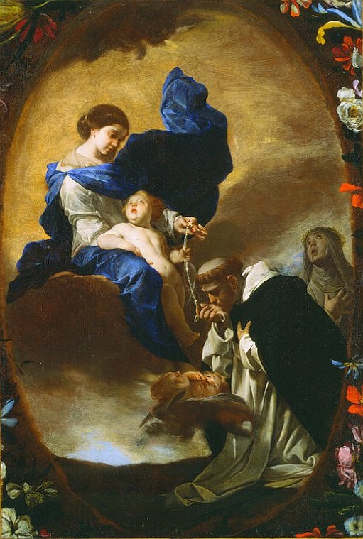 The Vision of St. Dominic, by Bernardo Cavallino, ca. 1640.