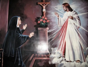 St Faustina with Jesus, the Divine Mercy