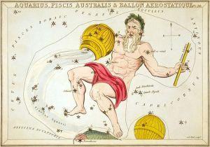 Sidney Hall, Urania's Mirror, Aquarius Piscis Australis, Ballon Aerostatique